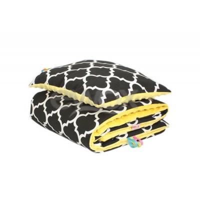 Komplet minky Maroko Czarne + Żółte Minky