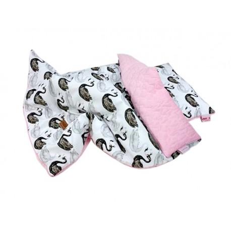 Komplet z poduszką Swan black 75 x 100