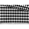 PODUSZKA MINKY 30X40 czarne trójkąty